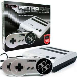 Retro Duo NES / SNES Gaming Console, Silver/Black for £49.99 @ funstock