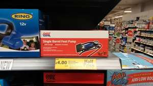 car foot pump £4 @ Tesco instore