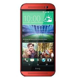 HTC One M8 16GB Red New Sim free for £304.31 at mobicity