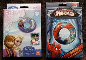 Frozen, Spider-Man & Minions Swim Rings & Armbands £1 Instore @ B&M