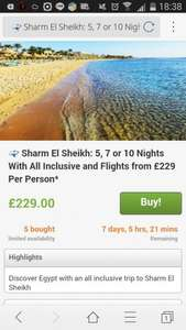 egypt holiday five nights couple for £229 all inclusive @ Groupon