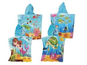 Kids' hooded towel poncho - £3.99 @ LIDL (From Monday 11th May)