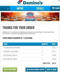 Any 2 large pizzas for £12.99 at Domino's (2 promo deal glitch)