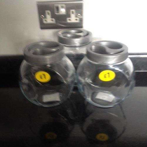 Glass cookie jar/ cereal/grain jar £1 @ Morrisons