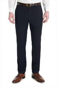 Ventuno 21, slim fit suit trousers in Navy £15 - Moss Bros
