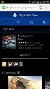 The Crew PS4 Free on the Playstation Store UK