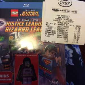Lego DC Comics Super Heroes (Justice League vs Bizarro League) BLU RAY inc.Batman Mini Figure £8 instore @ Asda