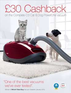 Miele Complete C3 Cat & Dog Powerline Vacuum Cleaner £184.99 @ Thurgo