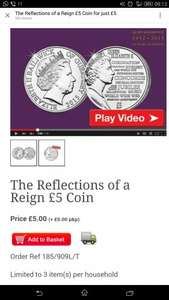 The Reflections of a Reign £5 Coin for just £5 + FREE DELIVERY... @ Westminster Collection