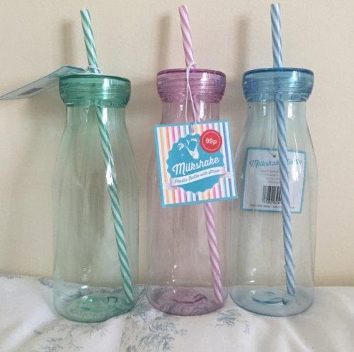 Plastic Milkshake Bottles - 99p Home Bargains