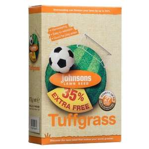 Johnsons Tuffgrass Lawn Seed to cover 27 square metres. £2.97 at B&M bargains.