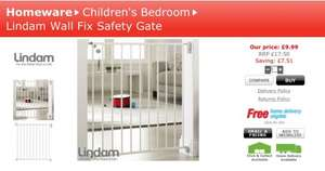 Lindam wall fix safety gate (no trip) only £9.99 @ Home Bargains (free c&c)