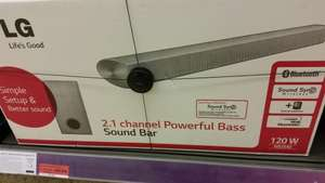 LG NB-2540 2.1 Soundbar & Subwoofer. Was £129.99. Now £69.99 @ Sainsburys