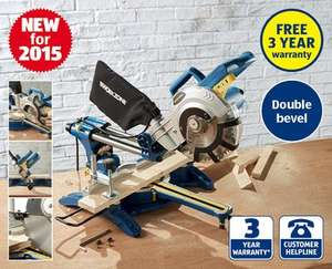 1800W Sliding Double Bevel Mitre Saw with Laser Guide and comes with TCT Blade £79.99 @ Aldi
