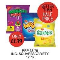 Quavers (12 packs) RRP £3.79 now £1.79 @ Costcutter