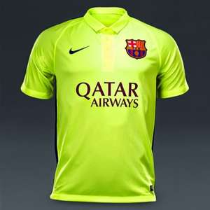 Nike FC Barcelona 2014/15 2nd & 3rd Shirts from £28.49 delivered @ Sportsdirect.com