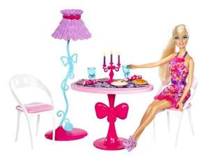 Barbie Glam Dining Room Furniture and Doll Set £8.00 @ Tesco Direct