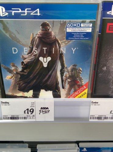 Destiny PS4 £19 instore @ Asda