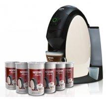 A FREE* NESCAFÉ® Alegria A510 2L machine and 5 sets of espresso cups when you buy 6 coffee canisters