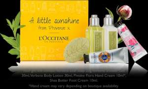 Free L'OCCITANE 5 piece gift set