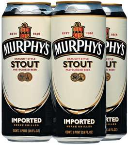 Murphy's Draught Irish Stout 4 pack £3.00 Tesco