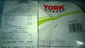 York 5kg Cast Iron weight £5 each @ Tesco instore