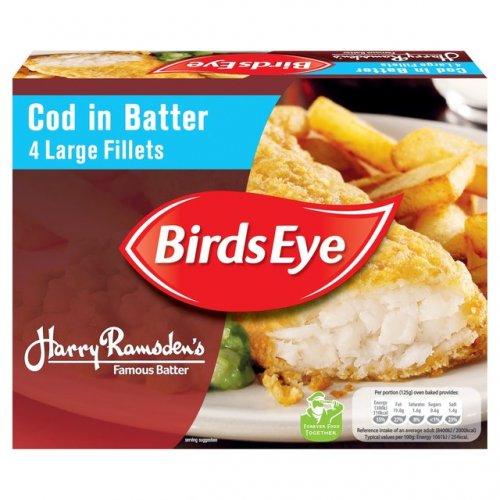 Birds Eye Harry Ramsden's Large Cod Fillets in Crispy Batter 4 x 120g HALF PRICE DOWN TO £1.99 @ Morrisons