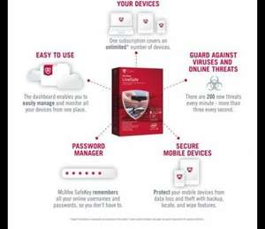 Mcafee Live Safe - Unlimited Devices for £19.99 instead of £79.99 at argos when you buy 500 Sheets of paper for £3.99