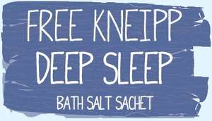 FREE Kneipp Deep Sleep Bath Salt sachet