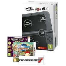 New 3DS XL Console Metallic Black Or Blue + Mario Kart 7 Full Game Download + Professor Layton and The Mask of Miracle + Scribblenauts Unlimited £179.86 Delivered @ Shopto