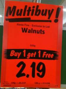 Alesto Fine Californian Walnuts 1 Kg @ Lidl for £2.19