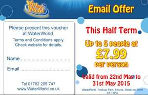 Water world Water park at Stoke on Trent, £7.99 per person