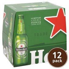 12x330ml bottles Heineken £8.00 at Tesco