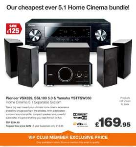 Advanced 5.1 Home Cinema System - Pioneer VSX329, S-SL100 & Yamaha YSTFSW050 - £169.95 @ Richer Sounds - Bargain!!