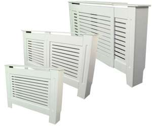 Large Painted Radiator Cover Radiator Cabinet White MDF £54.99 @ Ebay/outdoor-leisure-camping