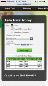 Turkey lira echange rate all time high @  Asda £4.005 to the £1