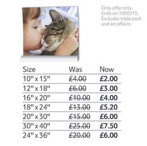 Tesco Photo up to 70% off large poster prints