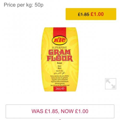 KTC Superfine Gram Flour 2kg  £1 @ Morrisons