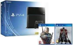 PS4 500GB console Black/White with Witcher 3:Wild Hunt + Bloodborne £299 with code from Tesco Direct(Free C&C)