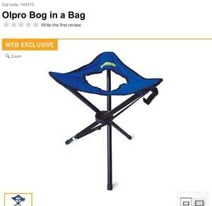 Olpro BOG IN A BAG camping toilet £18 @ Halfords (£16.20 between 12pm-2pm today)