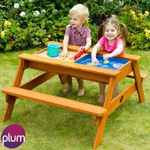 Plum Surfside Sand Pit and Water Wooden Picnic Table £49.99 @ home bargains. Collect from store only