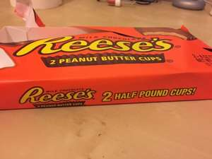 2 HALF POUND Reese's Peanut Butter Cups £1.99 B&M