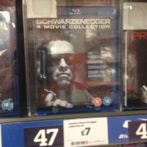 Schwarzenegger 4 movie bluray collection £7 @ sainsburys