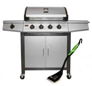 Bentley 5 Burner Premium Gas BBQ (4x Burner + 1x Side Burner) + FREE BBQ GRILL BRUSH* £279.99 @ BuyDirect4U