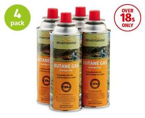4 x Gas Canister Refills £4.99 @ Aldi