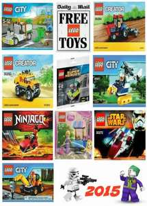 Reminder: Daily Mail Lego Promotion starts -16th May ~ 24th May