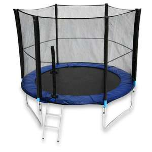 16 foot Trampoline with Safety Enclosure Net Ladder and Rain Cover - £115.29 Amazon