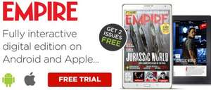 2 free digital issues of empire magazine