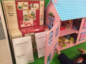 Wooden dolls house in Fenwick (Newcastle) was £120, now £40.
