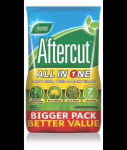 Aftercut All In One Lawn Feed, Weed & Moss Killer 21kg £18 @ B&Q
